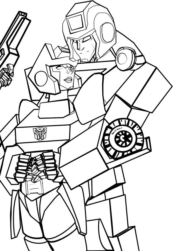 Transformers Optimus Prime Coloring Page
