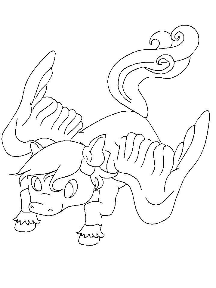 Unicorn Pegasus Coloring Page
