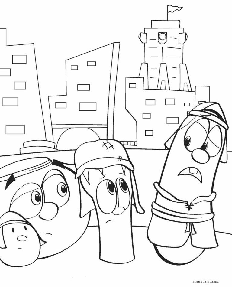 Veggie Tale Coloring Pages