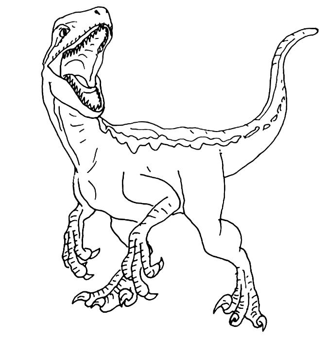 Velociraptor Printable