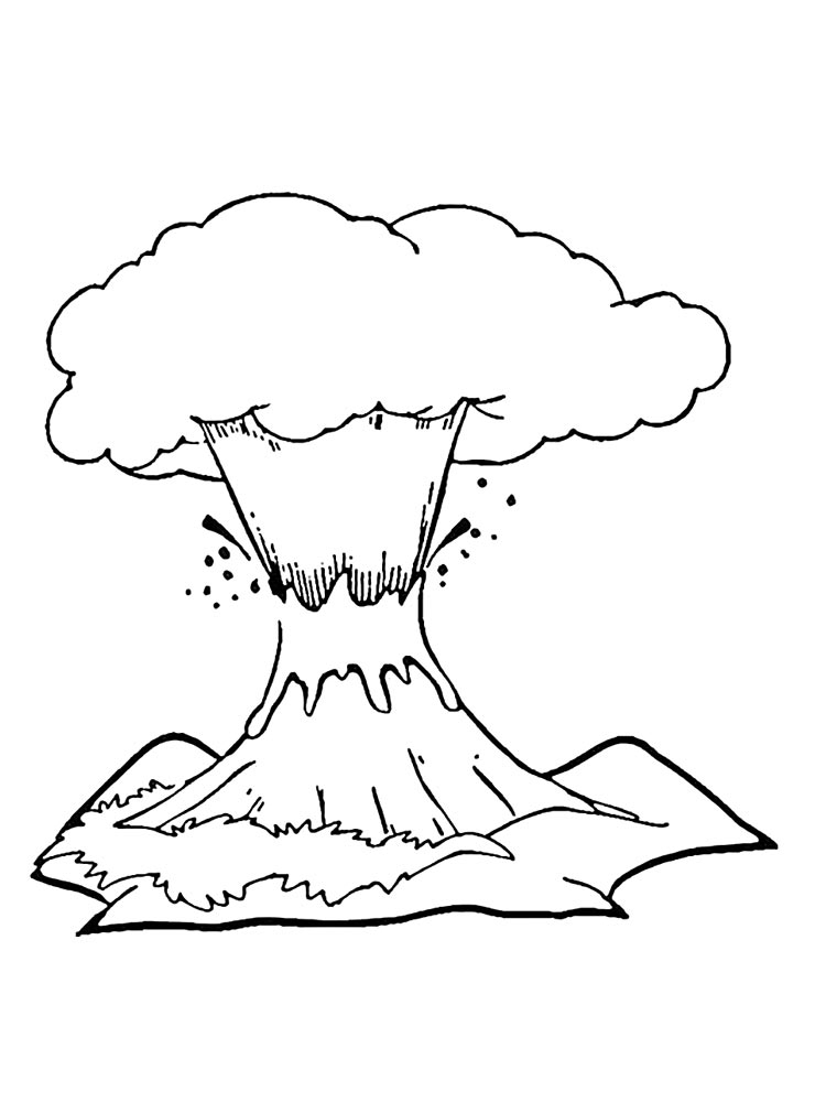 Volcanoes Coloring Pages