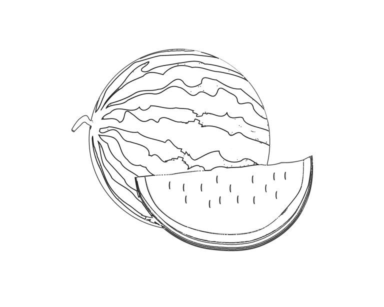 Watermelon Color Page