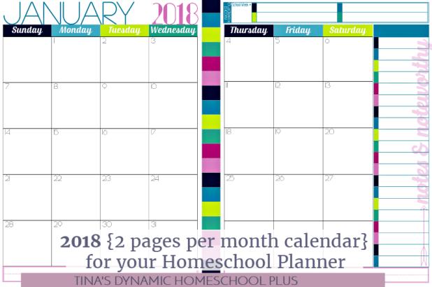 2018 4 month calendar