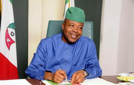 Governor Emeka Ihedioha in his office