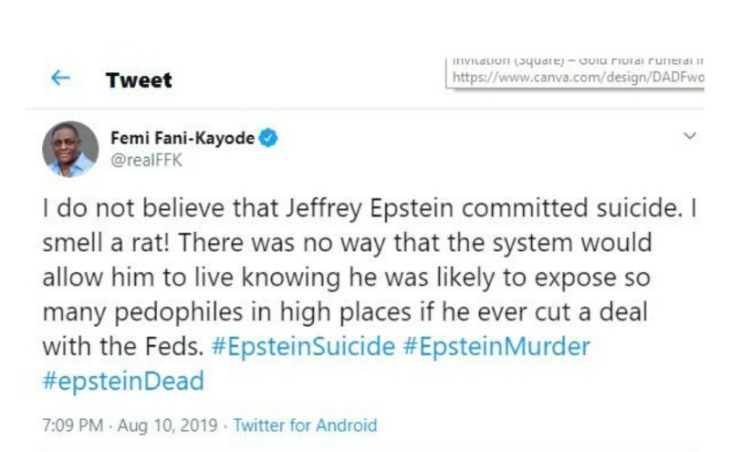 I do not believe that Jeffrey Epstein committed suicide, I