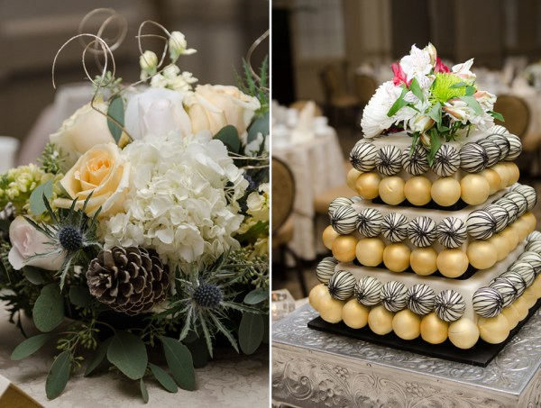 Richmond Hotel John Marshall Elegant Event Photography - Gold Cakepop Tier Cake