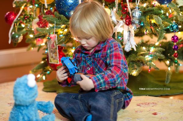 Christmas-Tree-Bokeh-Toddler-Train-Holiday-Portrait