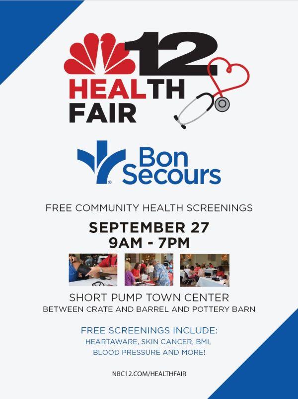 NBC12 Bon Secours Health Fair Poster Design