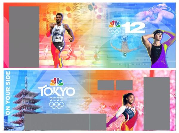 Tokyo Olympics Full Wall Warp Design Layout