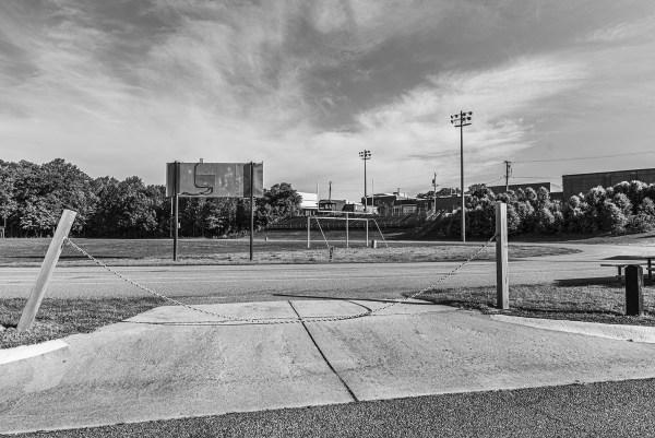 quarantine one year later empty football field