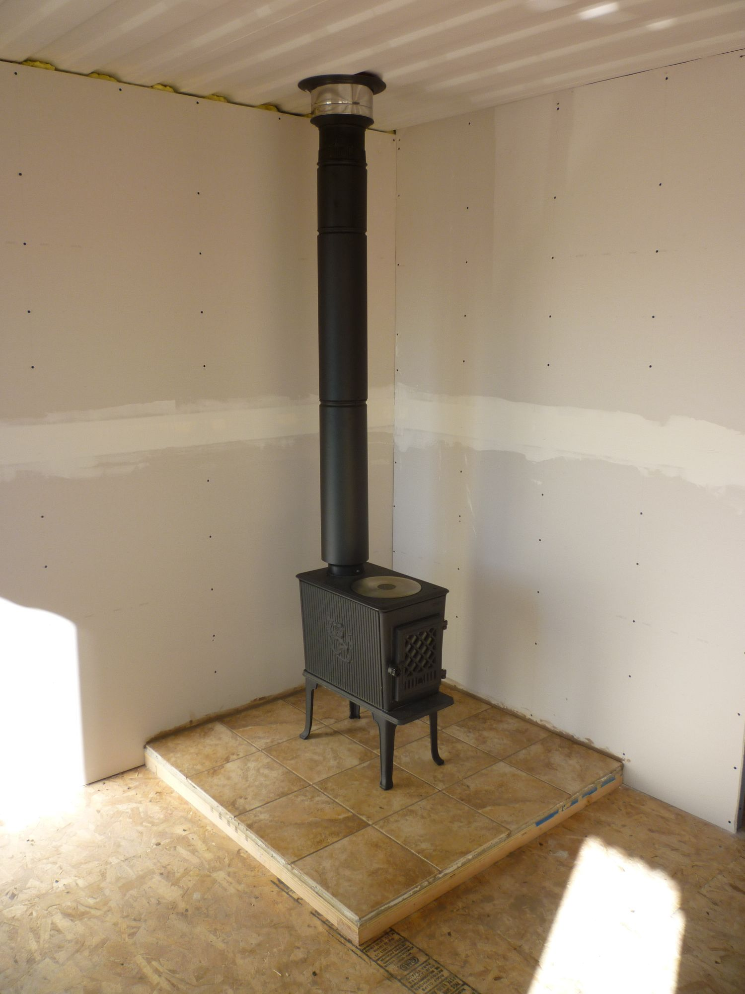 Wood Stove And Chimney Tin Can Cabin