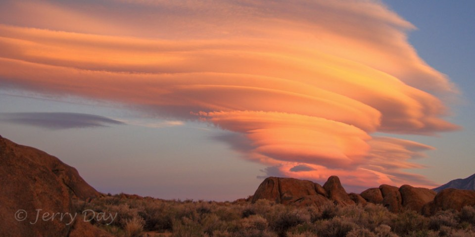 Lenticular Clouds over the Alabama Hills, CA