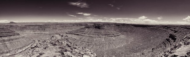 Dry Gooseneck and the San Juan River - Panorama