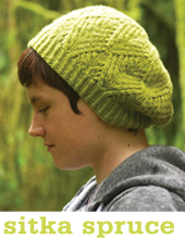 Sitka Spruce Hat and Mittens by Tin Can Knits