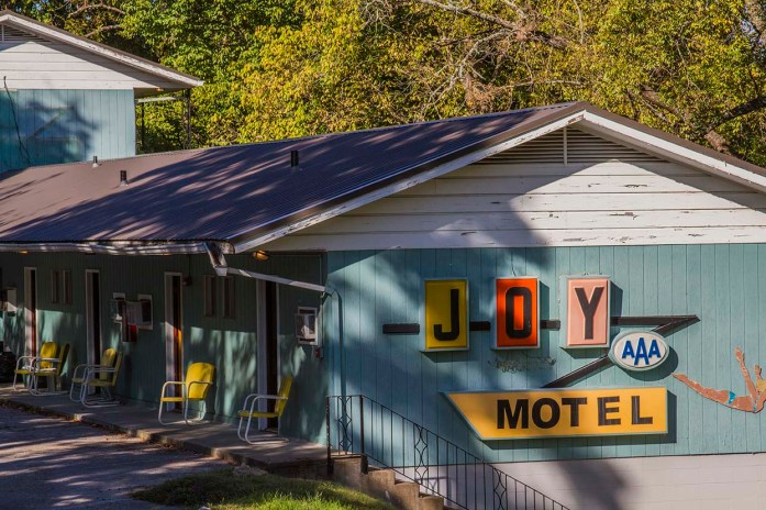 Just a fun, old school motel, that sits on the main street running through Eureka Springs.