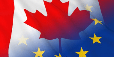 Canada Europe combined flag - Free Trade