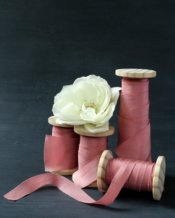 Rose ribbon in 4 widths