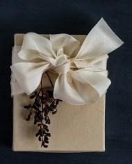 Ivory ribbon parcel
