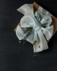 Sea Foam ribbon parcel