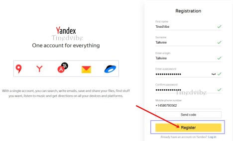 Create Yandex Mail Registration - Yandex mail sign up