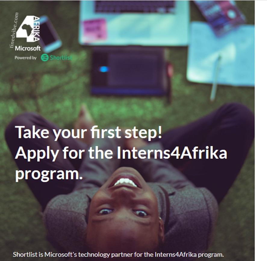 Microsoft Interns4Afrika Program 2022