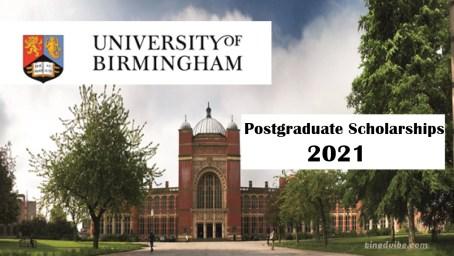 UK Birmingham Postgraduate Scholarships 2021