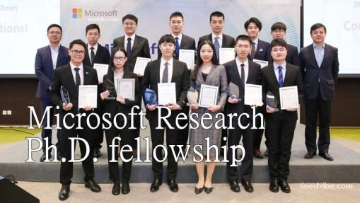 Microsoft Research PhD fellowship