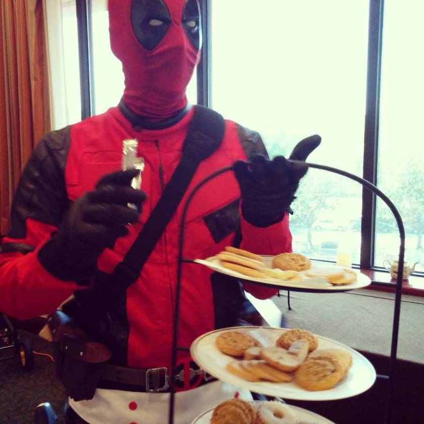 deadpool serving cookies