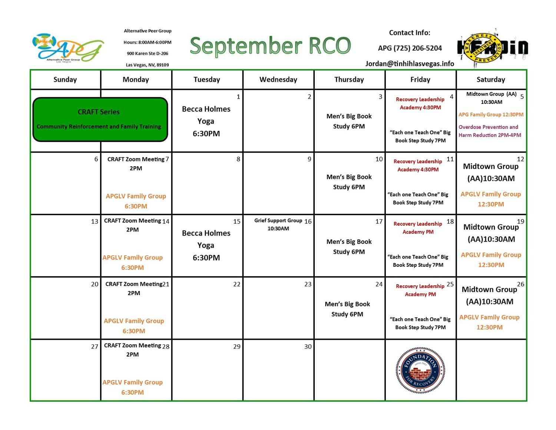 September RCO 2020