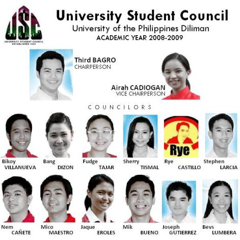 University Student Council 2008-2009
