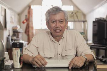 Columnist and screenwriter Jose 'Pete' Lacaba will receive the Gawad Plaridel award on July 24, Wednesday. Photo from the official page of the UP College of Mass Communication.