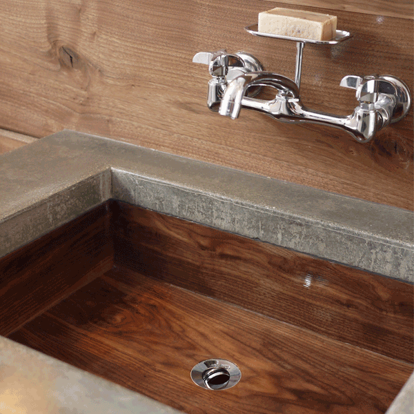Walnut sink carved on a CNC router.