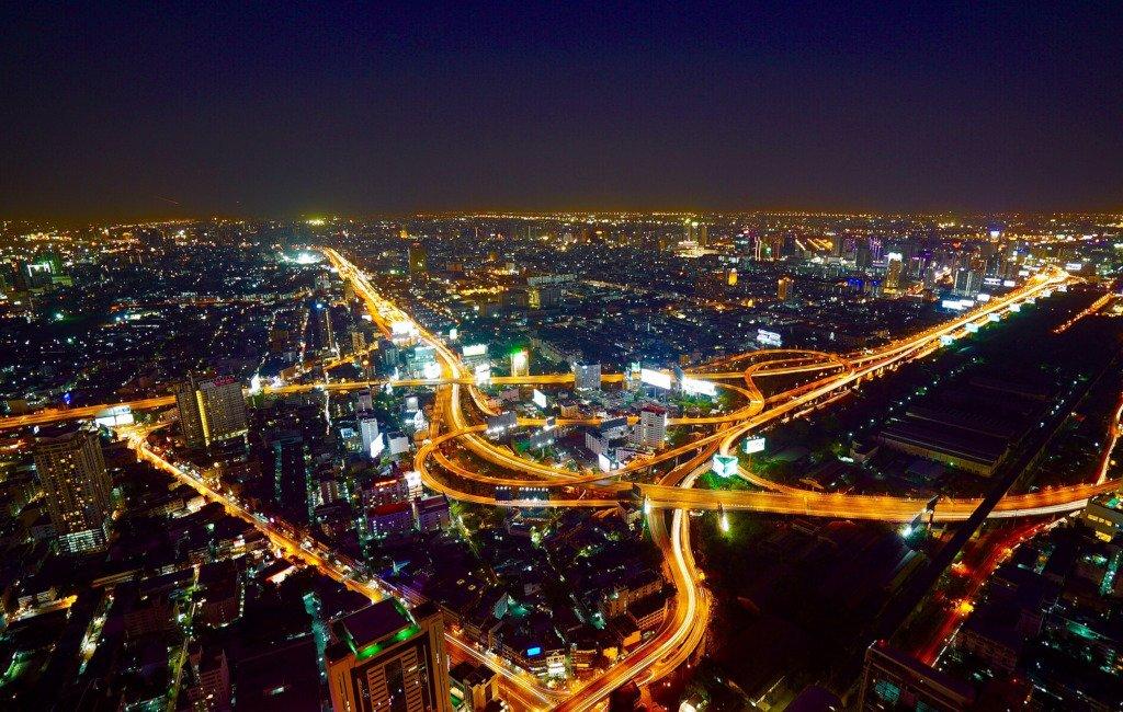 Ciudad vista de noche