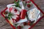 Jogurtovo jahodové nanuky s ovsenými vločkami