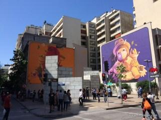 Malerei und Graffiti überall in Santiago