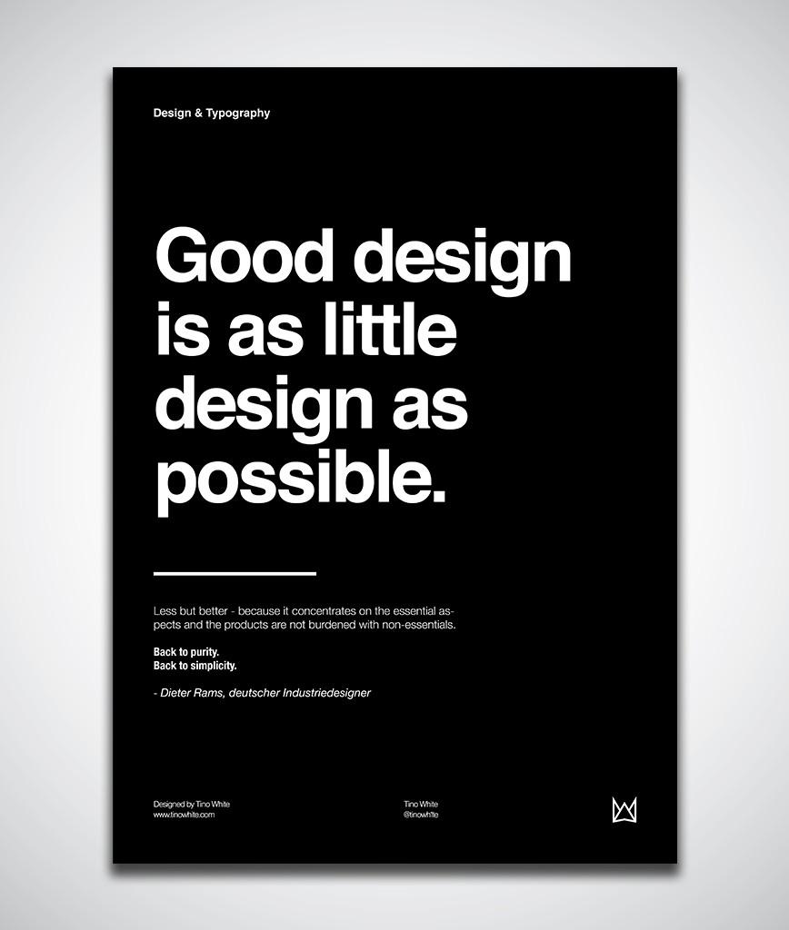 Design Zitat Dieter Rams