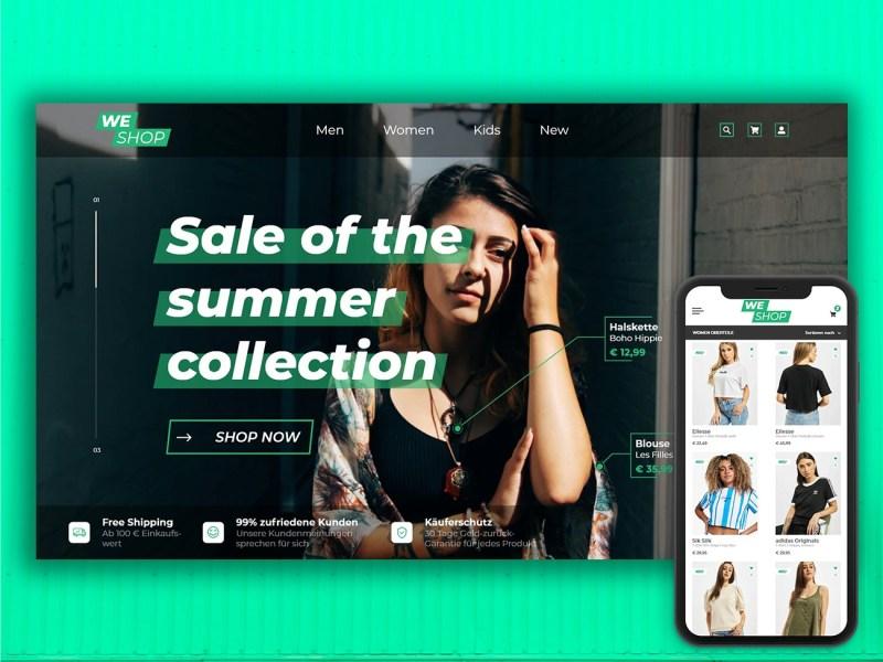 Onlineshop Webdesign & App Design
