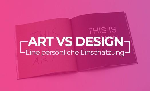 Der Unterschied zwischen Kunst und Design