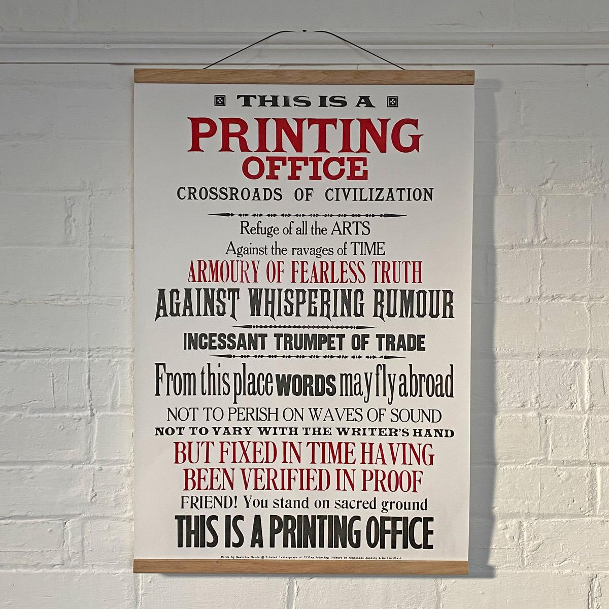 printing office letterpress poster