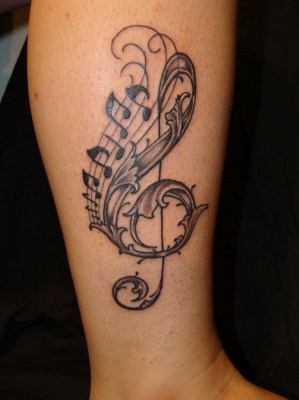 Tatuagens com o tema música (3)