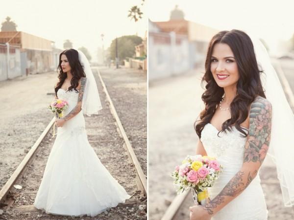 Fotos de Noivas Tatuadas 17