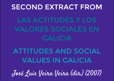 Second Extract from Las Actitudes y Valores Sociales en Galicia/Attitudes and Social Values in Galicia: José Luis Veira Veira (dir.) (2007)