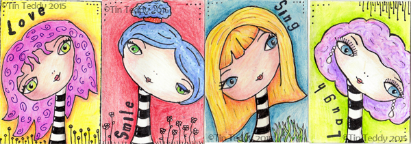 Zentangle Inspired Artist Trading Cards © Deborah Richardson of Tin Teddy