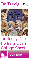 Tin Teddy Dog Portraits