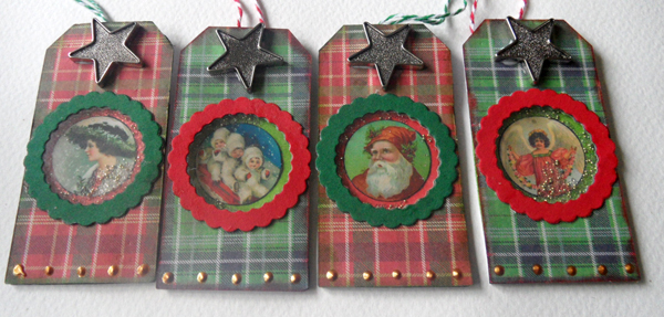 Shaker Christmas tags - finished