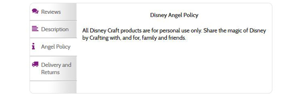 Create and Craft Disney - Angel Policy
