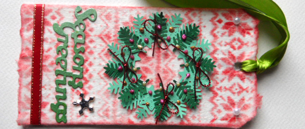 Christmas Wreath Tag Tutorial – Tim Holtz 12 Tags of 2015, December