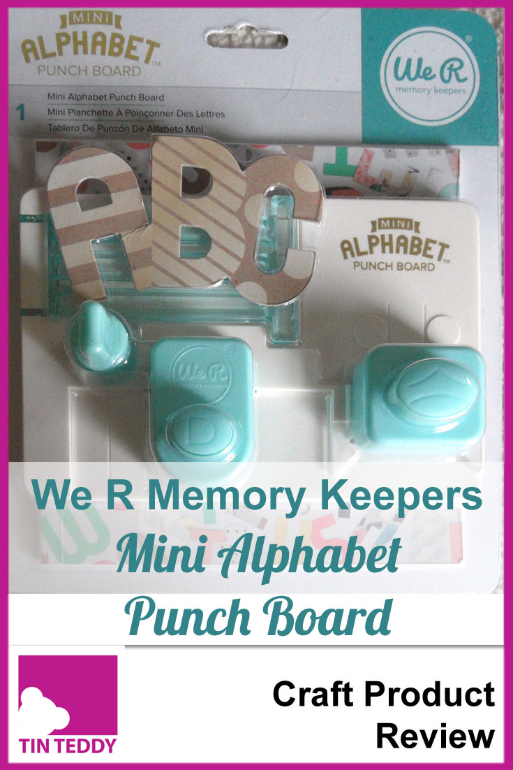 A review of the Mini Alphabet Punch Board from We R Memory Keepers, on the Tin Teddy Blog.