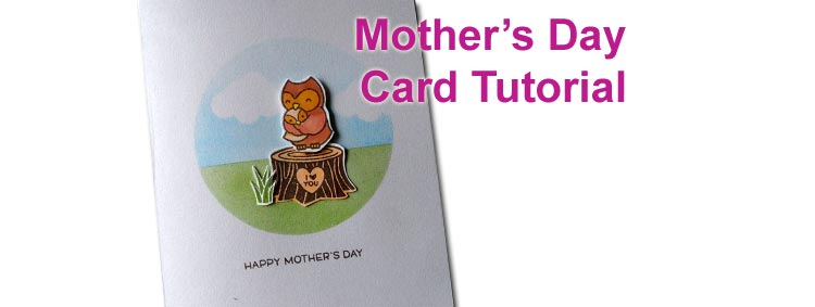 Mothers' Day Card Tutorial Featuring Lawn Fawn Mom & Me Stamps and Inking