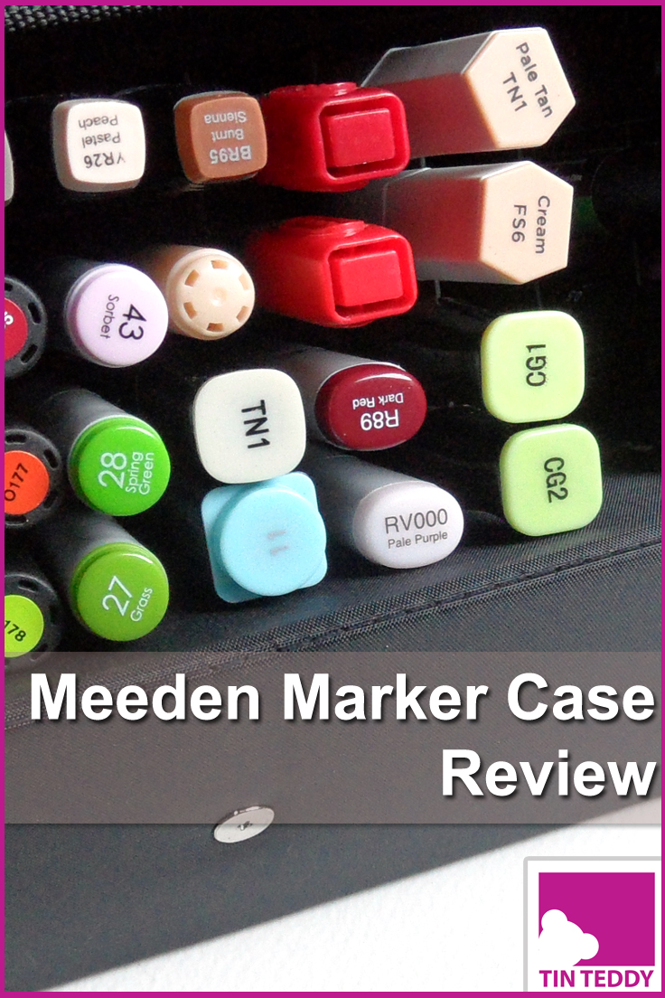 A review of the Meed Marker Case - a great case for storing and transporting alcohol markers such as Copics, Promarkers and Spectrum Noirs.